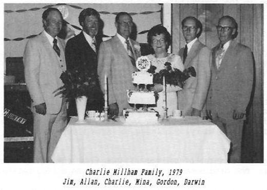 Charlie Millham family Jim Allan Charlie Mina Gordon Darwin