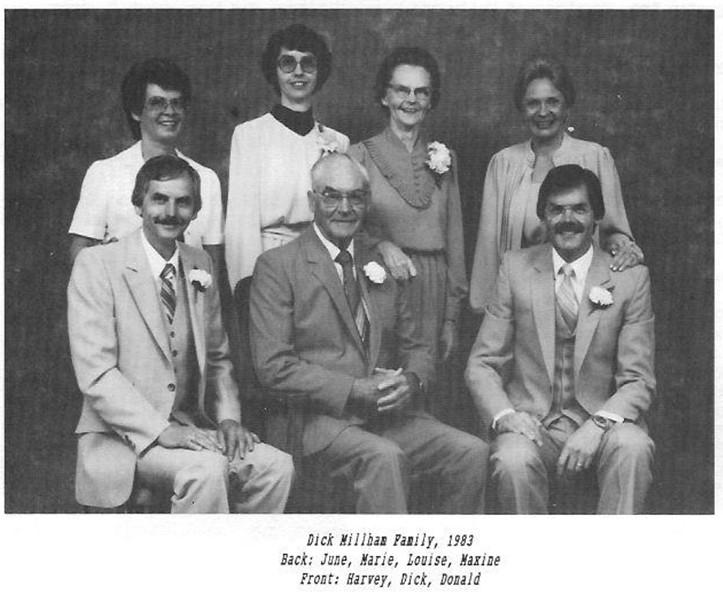 Dick Millham family June Marie Louise Maxine Harvey Dick Donald