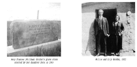 Mary Frances Millham Gordon Grave Willie