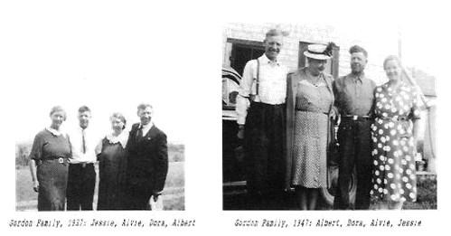 Gordon Family Jesse Alvie Dora Albert