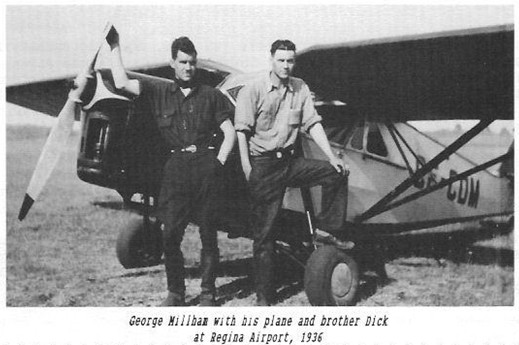 George Dick Millham plane