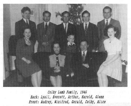 Colby Lamb family Lyall Everett Arthur Harold Glenn Audrey Winifred Gerald Colby Alice