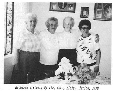 Hachmann sisters Myrtle Cora Elsie Clarice