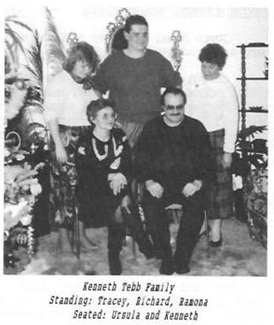 Kenneth Tebb family Tracey Richard Ramona Ursula