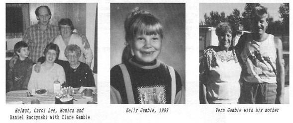Gamble family Helmut Carol Lee Monica Daniel Raczynski Clare Kelly Vern