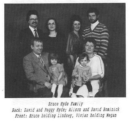 Bruce Hyde family David Peggy Alison David Rominick Lindsey Vivian Megan
