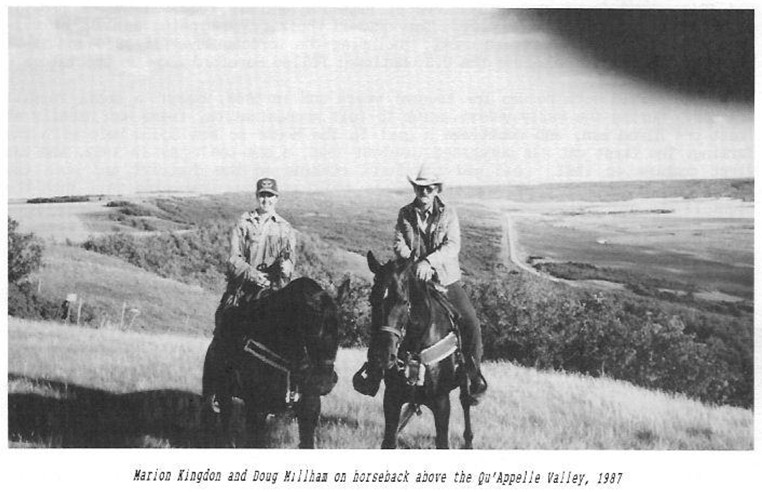 marion kingdon doug millham qu'appelle valley horses