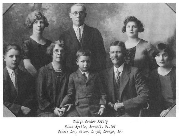 george gordon family myrtle everett violet les alice lloyd george eva